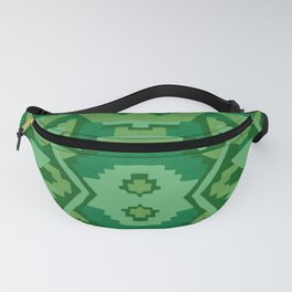 Geometric Aztec in Forest Green Fanny Pack