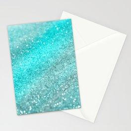 Aqua Teal Ocean Glitter #1 #shiny #decor #art #society6 Stationery Cards