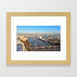 Thames river Framed Art Print