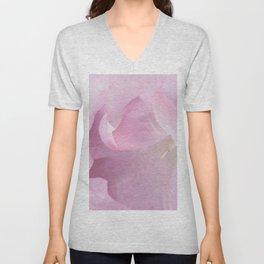 Pink Moonflower Unisex V-Neck
