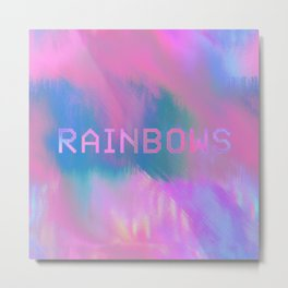 RAINBOWS 13-17-07 (rainbow cloud glitch) Metal Print