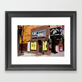 Cafe Wha? Greenwich Village NYC Framed Art Print