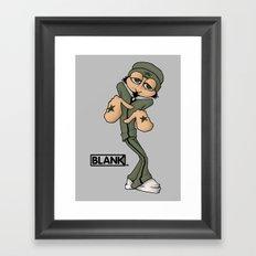 BLANKM GEAR - BREAKDANCE T SHIRT Framed Art Print
