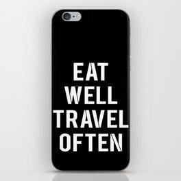 eat & travel iPhone Skin