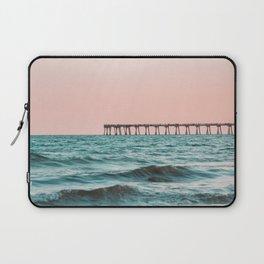 Beach Pier Sunrise Laptop Sleeve