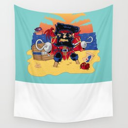 Lucky the Pirate Wall Tapestry