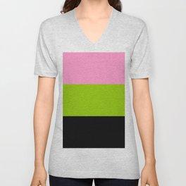 Just three colors 2 pink,green,black Unisex V-Neck