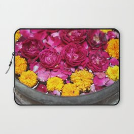 Roses and yellow Flowers Laptop Sleeve