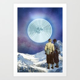 Have you seen the Moon last night? Art Print