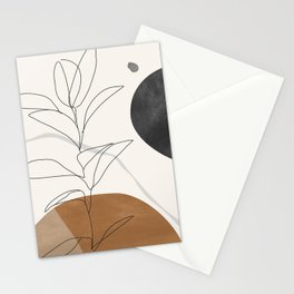 Abstract Art /Minimal Plant Stationery Cards