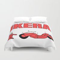 akira Duvet Covers featuring Ikera by Scary Logo