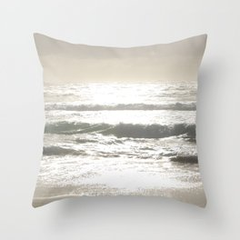 Sushine Camps Bay Beach Throw Pillow