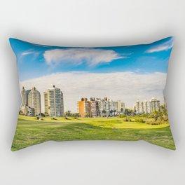 Montevideo Cityscape at Summer Time Rectangular Pillow