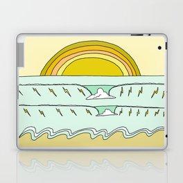 keep it simple // single fin // retro surf art by surfy birdy Laptop & iPad Skin