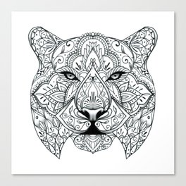 Big Cat Portrait Canvas Print