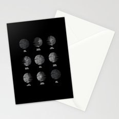 The Death Star Moon phase. Stationery Cards