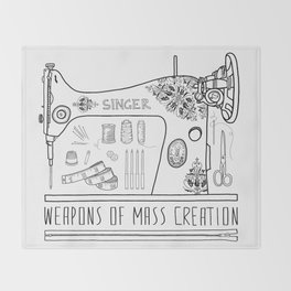 Weapons Of Mass Creation - Sewing Throw Blanket
