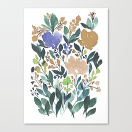 hand painted flowers_2b Canvas Print