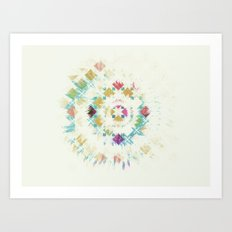 Burst. Art Print