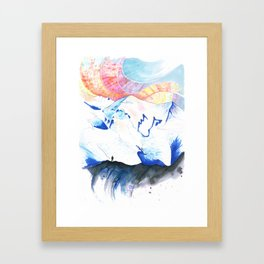Mont Blanc Sunset Framed Art Print
