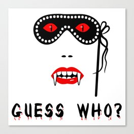 Halloween Guess Who Vampire Beauty Canvas Print