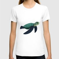 sea turtle T-shirts featuring Turtle by Imaginative Ink
