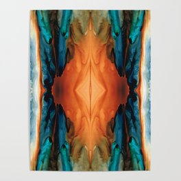 The Great Spirit - Abstract Art By Sharon Cummings Poster