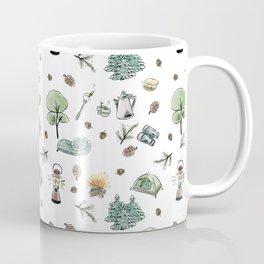 Camping Pattern Coffee Mug