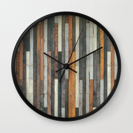 Wood Paneling Wall Clock