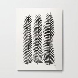 Black Seaweed Metal Print