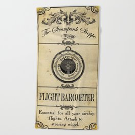 Steampunk Apothecary Shoppe - Barometer Beach Towel