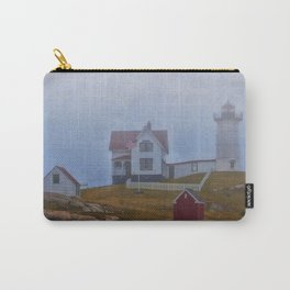 Nubble lighthouse under the fog Carry-All Pouch