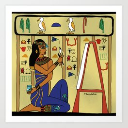 Egyptian Artist Art Print