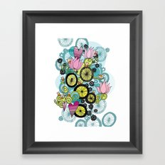 Bicycle Birds Framed Art Print