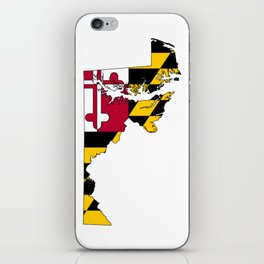 Map of Maryland with Maryland State Flag iPhone Skin