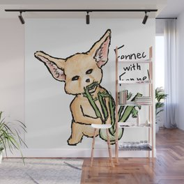 Fennec with Fennel Wall Mural