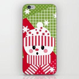 Snowman. Patchwork 1 iPhone Skin