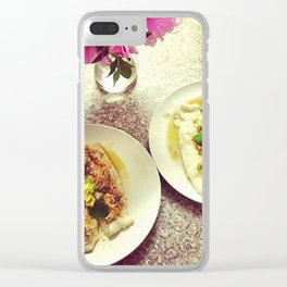 Dinner Clear iPhone Case