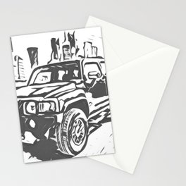 Urban Explorer - Hummer H3 Scetch Stationery Cards