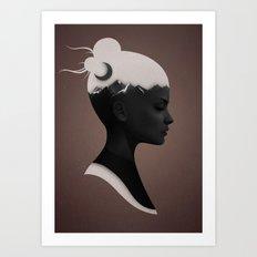 She Just Art Print