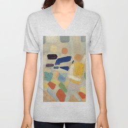 "Robert Delaunay ""Les coureurs (The runners)"" Unisex V-Neck"