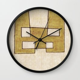 Protoglifo 06 'Mustard traverse cream' Wall Clock