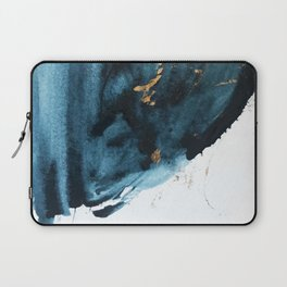 Sapphire and Gold Abstract Laptop Sleeve