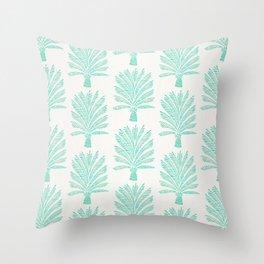 Palm Tree – Mint Palette Throw Pillow