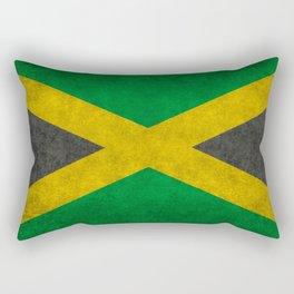 Jamaican flag, Vintage retro style Rectangular Pillow