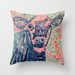 Moo-ve over winter- Cow Throw Pillow