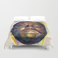 biggie smalls Duvet Covers featuring Biggie  by Kyle Miller