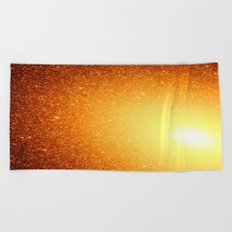 Copper Stars Ombre Beach Towel
