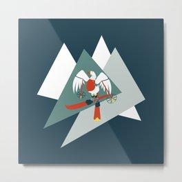 Greta Gooseson takes to the slopes! Metal Print