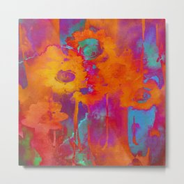 bright abstract bouquet Metal Print
